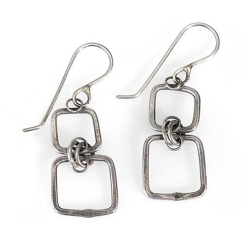 Linked Squares Earrings