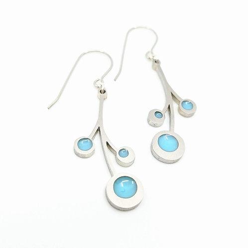Blue Snowberry Earrings