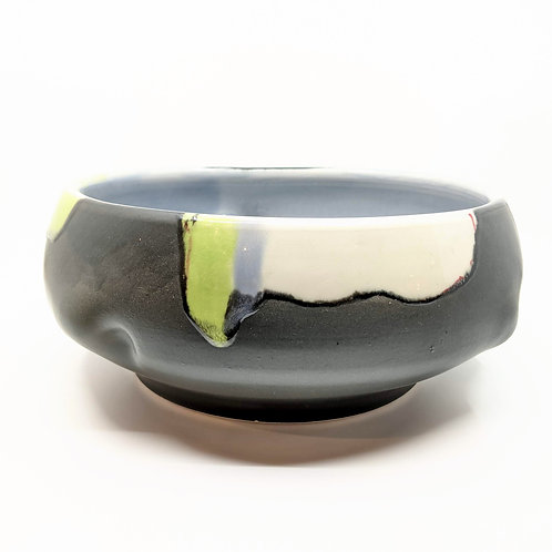 Large Abstract Brushstroke Serving Bowl