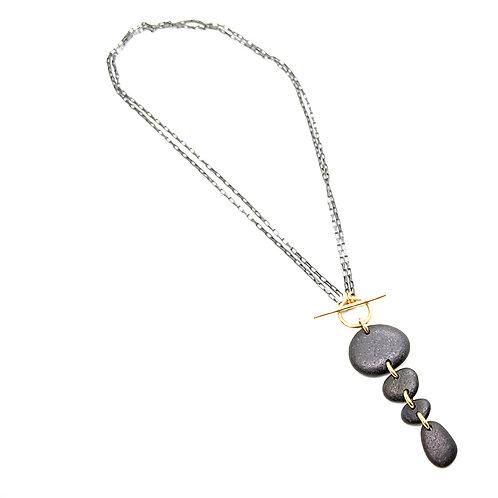 4 Stone Toggle Necklace
