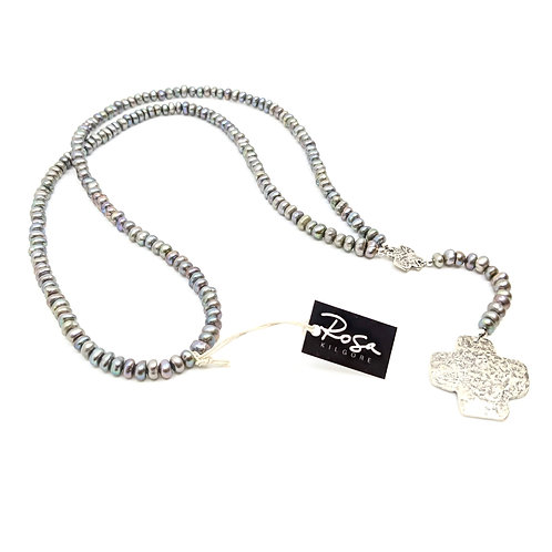 Rosary Style Pearl Necklace
