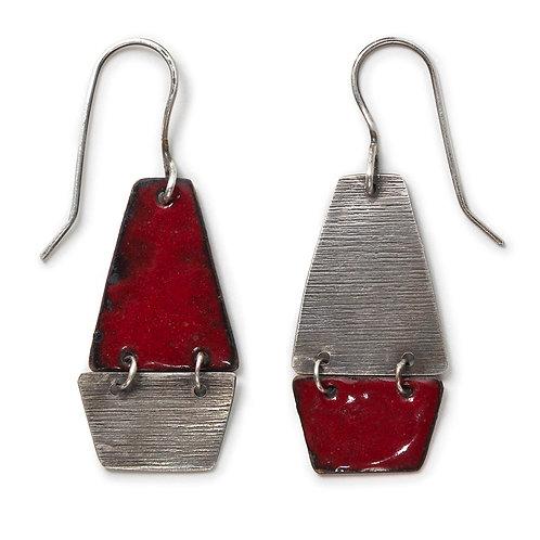 Kite Earrings in Flame