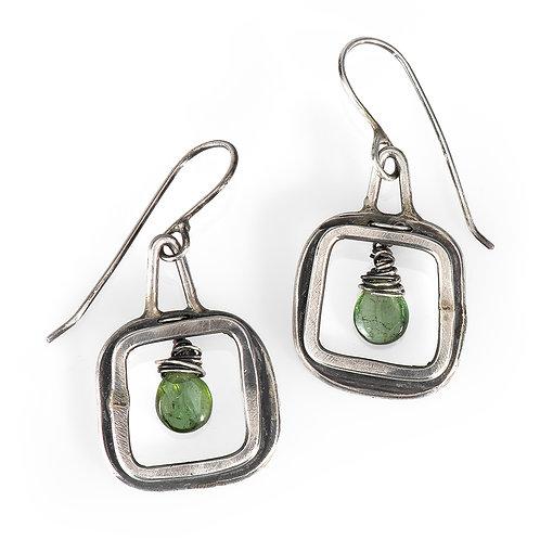 Windows with Green Tourmaline Earrings