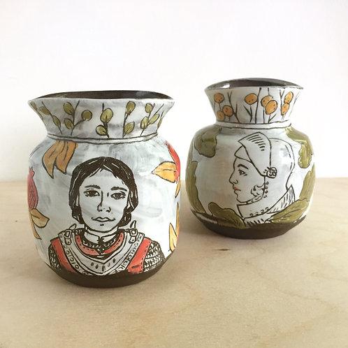 Lady Knight Vases