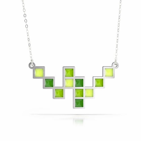 Green Cubic Necklace