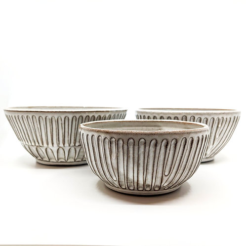 Three Stackable Line Bowls