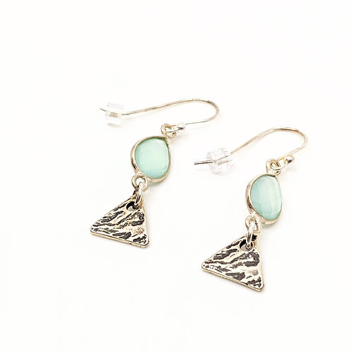 Sea Green Chalcedony Earrings