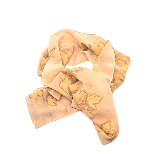 Small Eco Printed Scarf