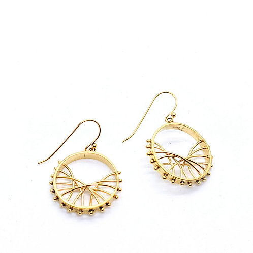 Wave Arc Earrings