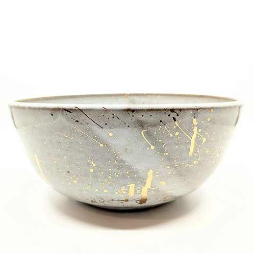 Gold Splatter Serving Bowl