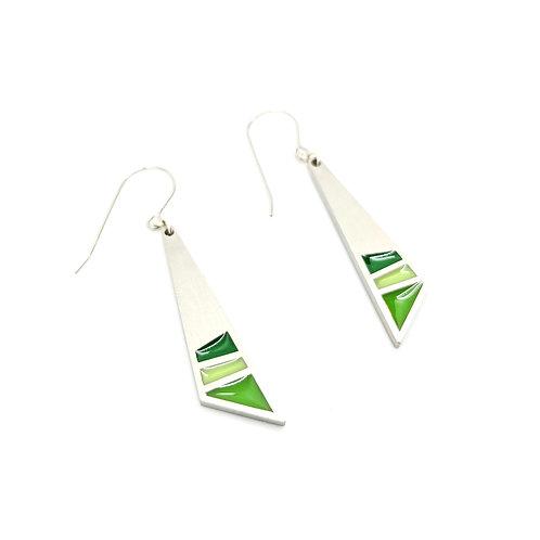 Green Vela Earrings