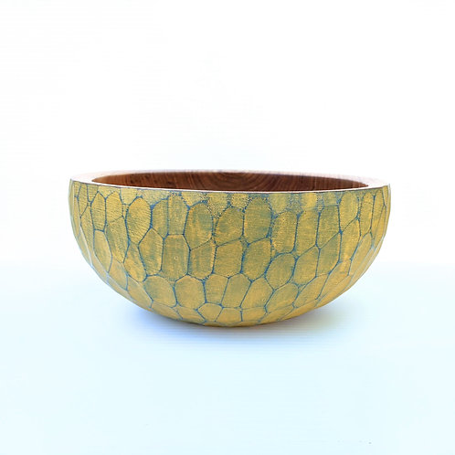 Faceted Citron Bowl