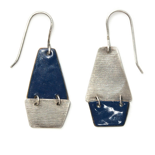 Kite Earrings in Blue-Black