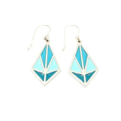 Blue Web Earrings