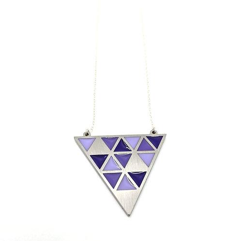 Purple Tesselate Necklace
