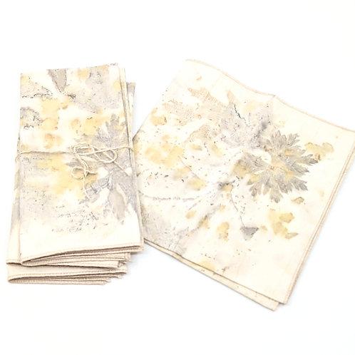 Eco Printed Napkins- Set of 4