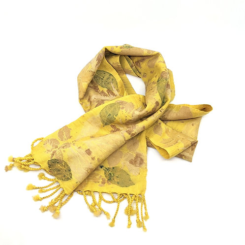 Eco Printed Scarf or Table Runner