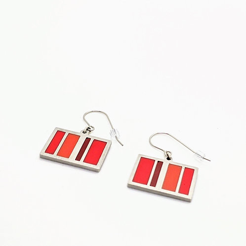 Red Stripes Earrings