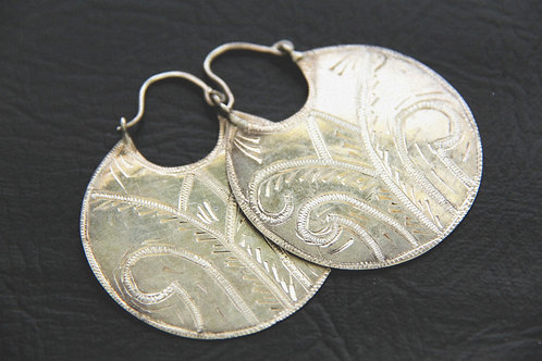 SILVER DISC EARRINGS, 25th Wedding anniversary, Gift for Her / SL1029