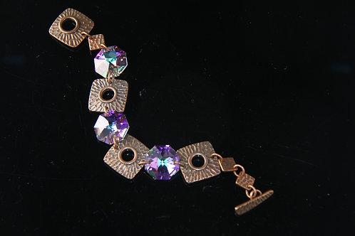 SWAROVSKI CRYSTAL BRACELET, Wedding Jewelry, Bridesmaid Jewelry /CR1002