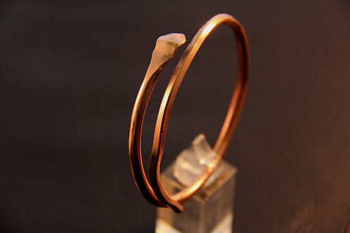 SNAKE COPPER BANGLE, 7th Anniversary, Anniversary Gift, Heavy gauge /CO1015