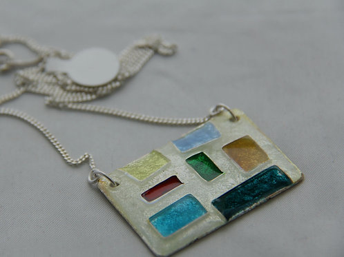 ENAMEL SILVER PENDANT: Mother's Day Gift, Wedding Anniversary / EN1028
