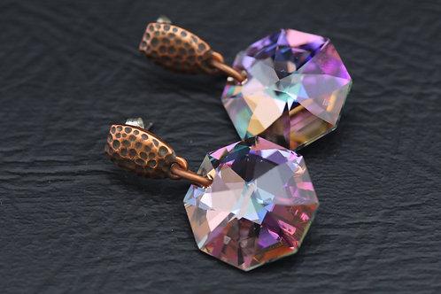 SWAROVSKI CRYSTAL EARRINGS, Bridal Jewelry, Wedding Jewelry, Anniversary /CR1017