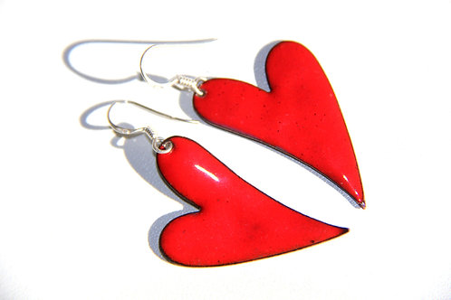 ENAMEL HEART EARRINGS, Valentines day gift, Mother's Day, Heart Earring/EN1007