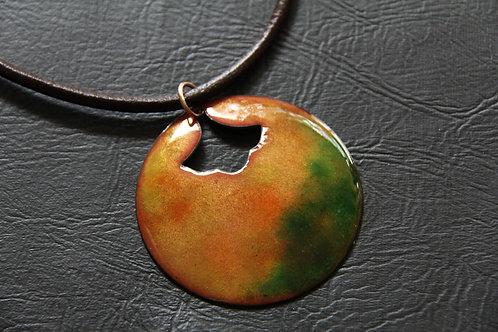 Enamel Copper Pendant