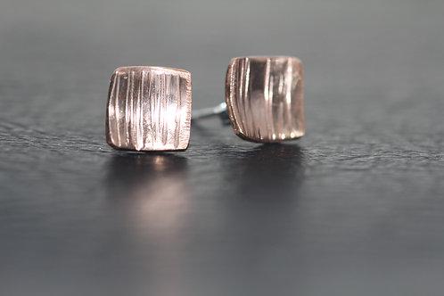 ROSE GOLD STUD EARRINGS,  Anniversary Gift, Stud earrings /ST1011