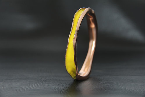 ENAMEL COPPER BANGLE, 7th Anniversary, Valentines day gift / EN1068