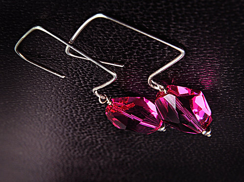 COSMIC CRYSTAL EARRINGS, Valentine Day's Gift, Gift for Her, Crystal /CR1011