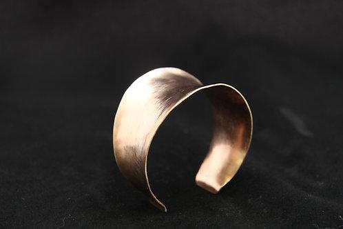 BRONZE CUFF BRACELET, 8th Anniversary, Unisex,  Artisan jewelry /BR1013