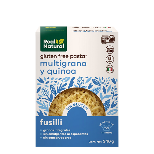 Fusilli de Quinoa y Multigrano Sin Gluten