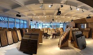 Imagen del showroom de pisos de madera de la marca Maderas Finas Studio en CDMX