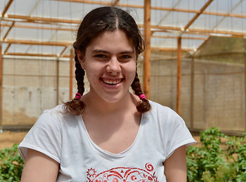 Young woman with intellectual disability smiling