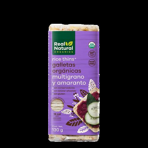 Rice Thins Galletas Orgánicas de Multigrano y Amaranto