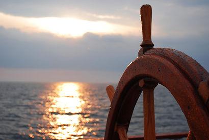Bild Freiheit, Meer, Steuerrad