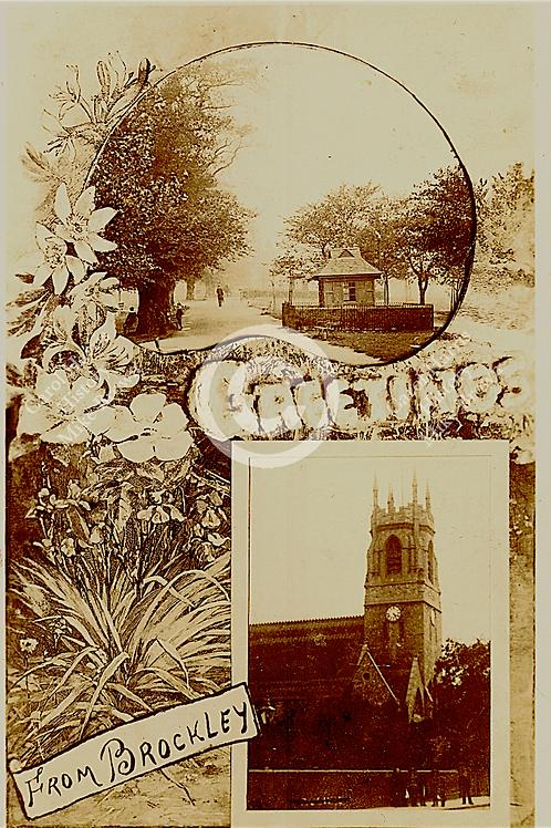 Greetings Brockley w/church  - Print