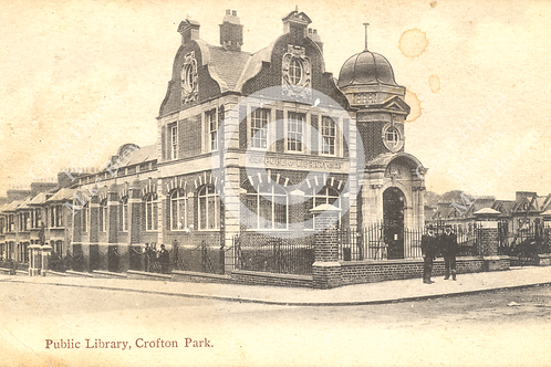 Crofton Park Library sepia - Print