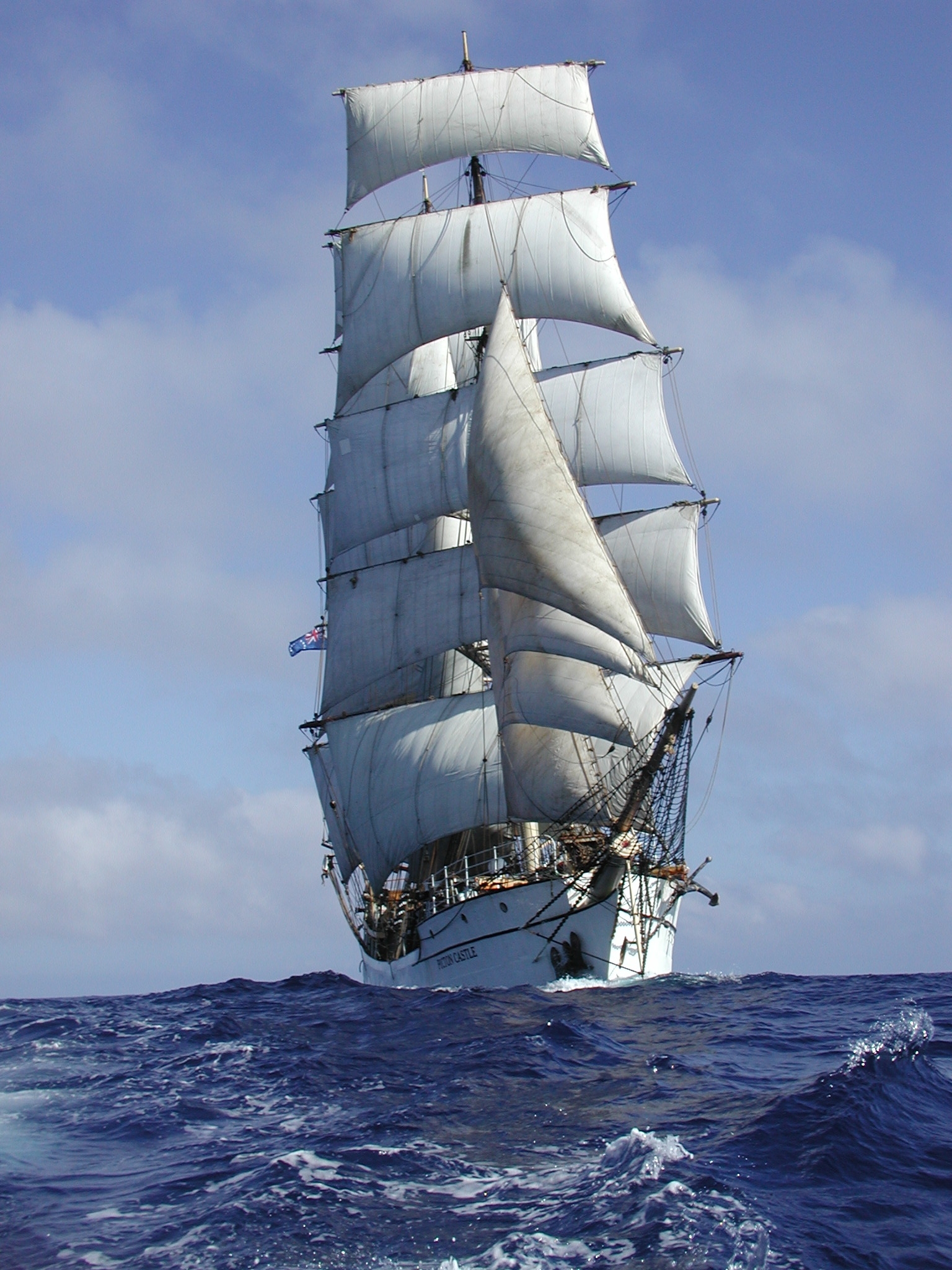 Picton Castle under full sail