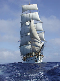 Picton Castle under full sail