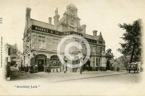 Brockley Jack new pub b/w - Print