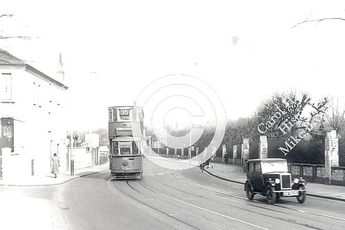 Brockley Road tram and car - Print