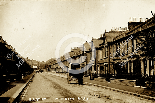 Merritt Road with horse and cart - Print