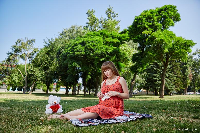 фотосессии беременных на природе