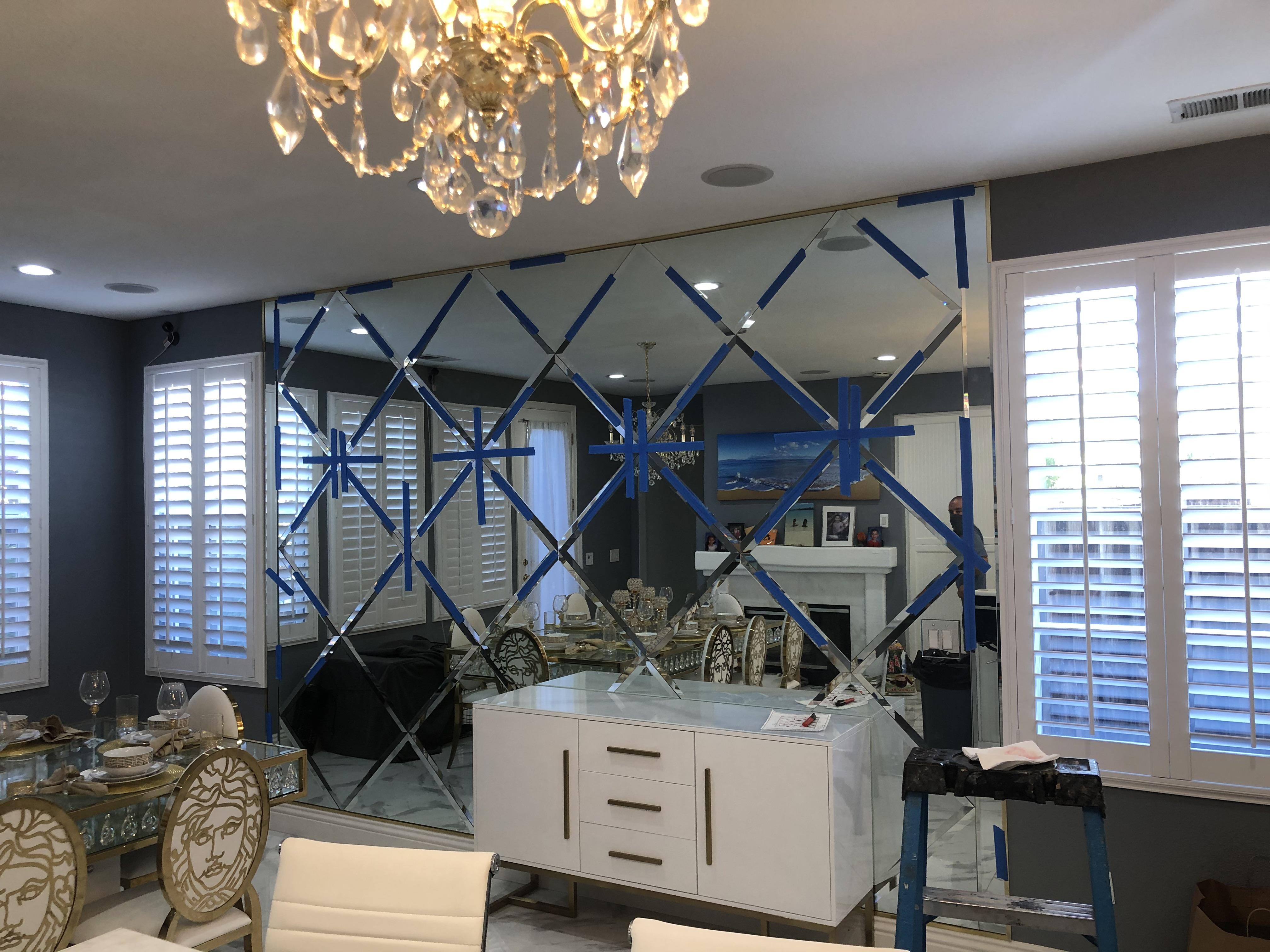 custom home mirror