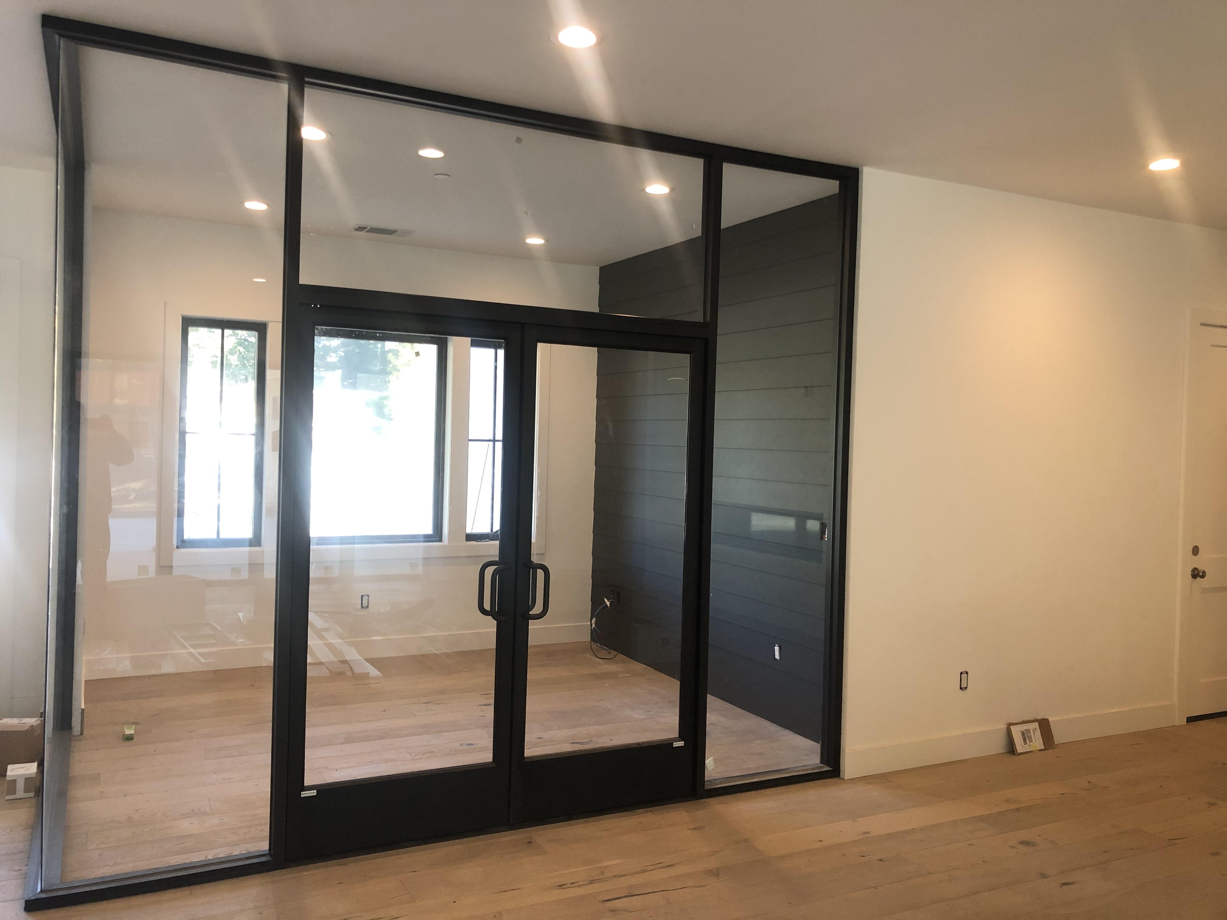 custom glass office doors