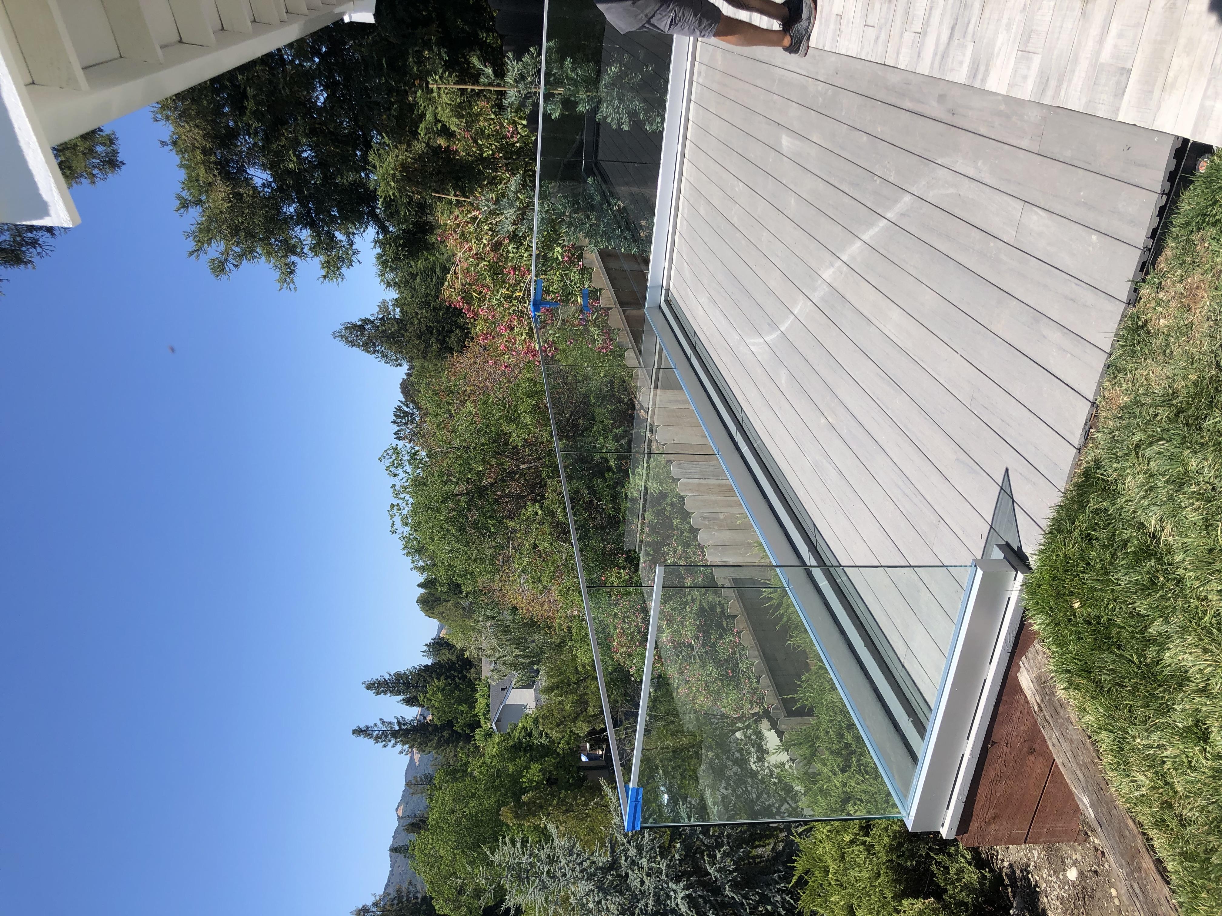 full glass patio