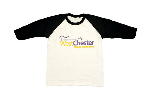 WCMA Adult Black/White 3/4 Sleeve T